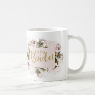 Team Bride - Bride mug - matching rose floral