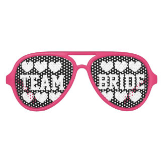 Team bride bridesmaid bachelorette party shades