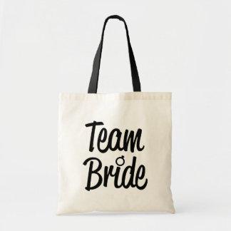 Team Bride Bridesmaid bag Black