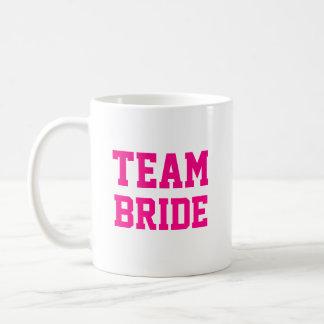 Team Bride bridesmaid name personalized Basic White Mug