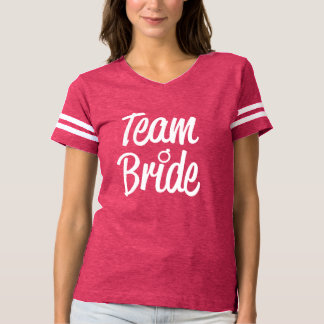 Team Bride Bridesmaid pink shirt