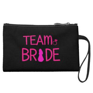 Team Bride - Bridesmaid Suede Clutch Wristlets