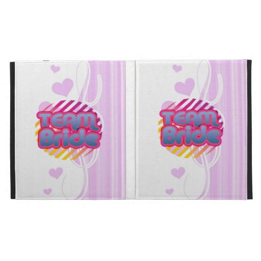 Team Bride Bridesmaids bachelorette wedding party iPad Folio Covers