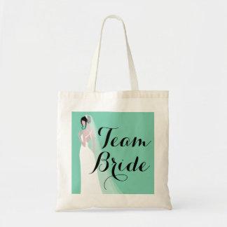 Team Bride Brunette Bride Budget Tote Bag