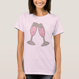 TEAM BRIDE Bubbly Champagne Wedding Bridal Party T T-Shirt