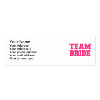 Team Bride Business Cards