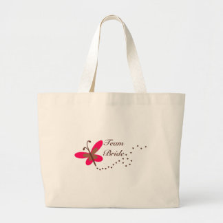 Team Bride butterfly Canvas Bags