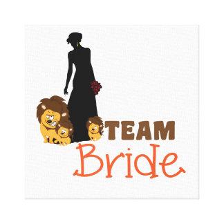 Team bride - cartoon lions gallery wrap canvas