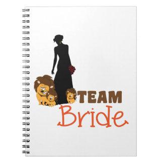 Team bride - cartoon lions spiral note book