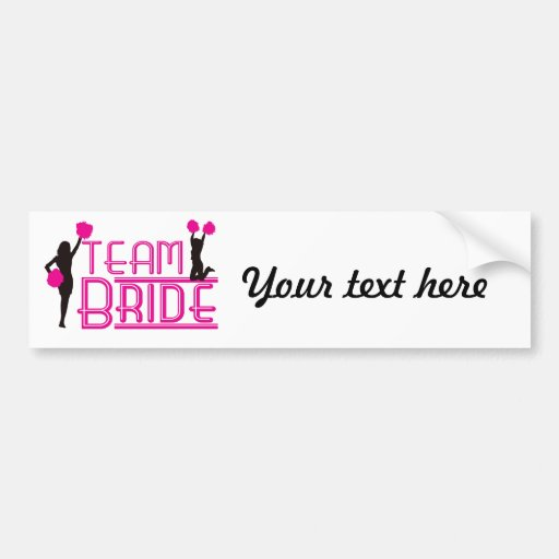 Team Bride - cheerleaders Bumper Sticker
