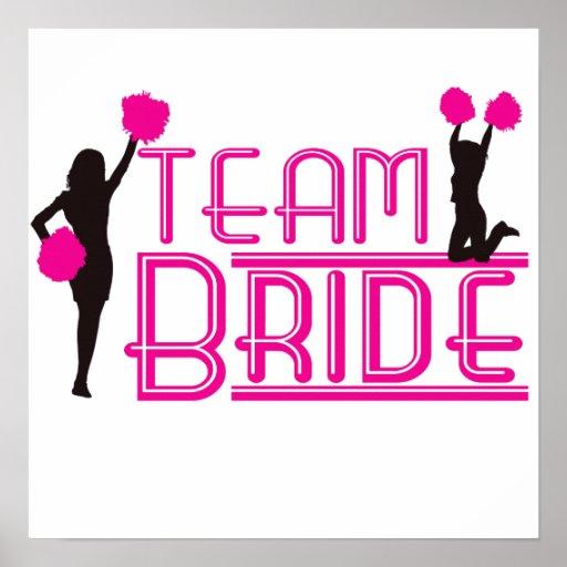 Team Bride - cheerleaders Posters