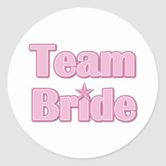 Team Bride Classic Round Sticker