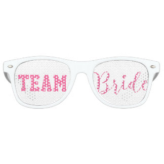 Team Bride Classy Pink Script Retro Sunglasses