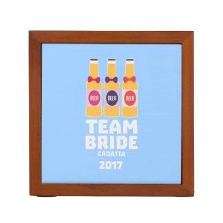 Team Bride Croatia 2017 Z6na2 Desk Organiser