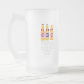 Team Bride Denmark 2017 Zni44 Frosted Glass Beer Mug