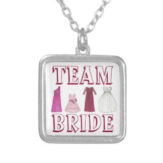 TEAM BRIDE Dress Wedding Party Bridesmaid Necklace