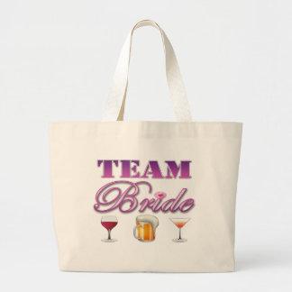 Team Bride Drinks Bridesmaids Wedding Bridal Party Tote Bag