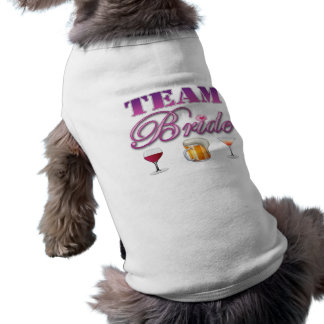 Team Bride Drinks Bridesmaids Wedding Bridal Party Sleeveless Dog Shirt