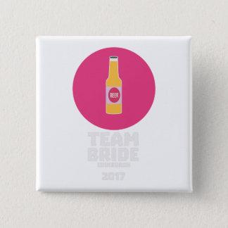 Team bride Edinburgh 2017 Henparty Z513r 15 Cm Square Badge