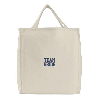 Team Bride Embroidered Tote Bags