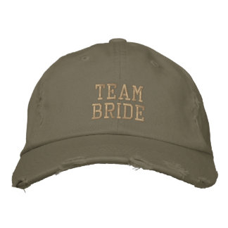 Team Bride! Embroidered Hats