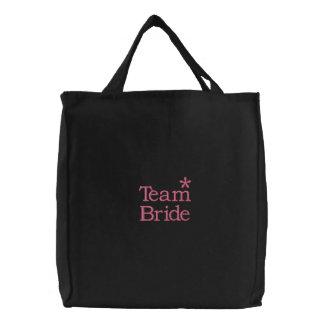 Team Bride Embroidered Tote Bag
