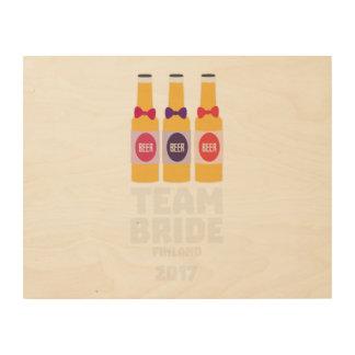 Team Bride Finland 2017 Zk36v Wood Print