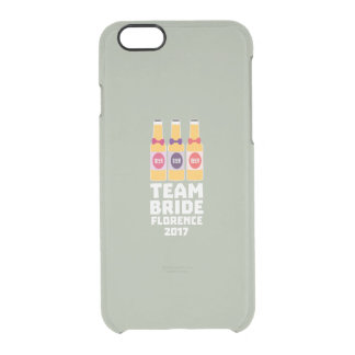 Team Bride Florence 2017 Zhy7k Clear iPhone 6/6S Case