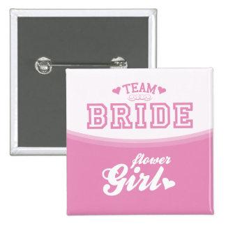Team Bride Flower Girl Button