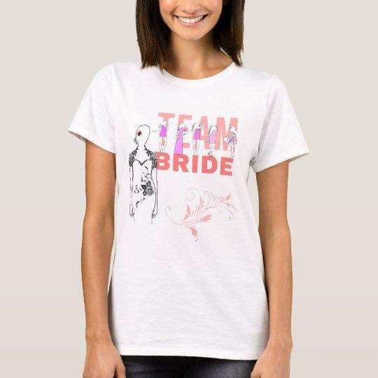 Team Bride funny, elegant, pink T-Shirt