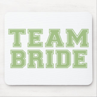 Team Bride Green Mouse Pads