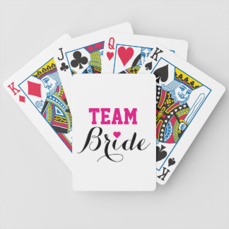 Team Bride Hot Pink Heart Playing Cards