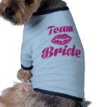 Team Bride kiss Doggie T Shirt