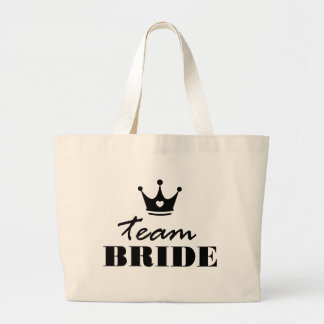 Team Bride Large Tote Bag