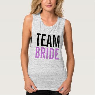 Team Bride Lilac Bachelorette Party Singlet