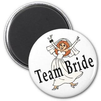 Team Bride 6 Cm Round Magnet