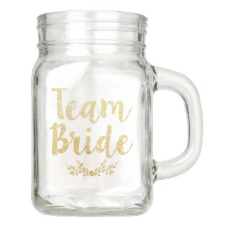 Team Bride Mason Jar