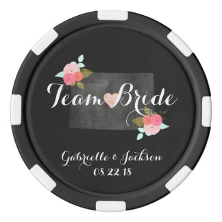 Team Bride or Groom Colorado State Chic Wedding Poker Chips