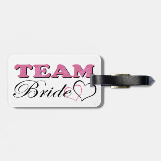 Team Bride - Pale Pink Luggage Tag