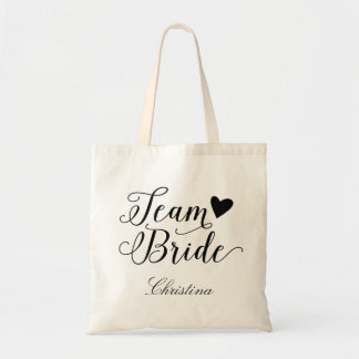 Team Bride Personalized Budget Tote Bag