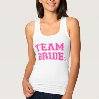 Team Bride Personalized front and back Name,Number Singlet