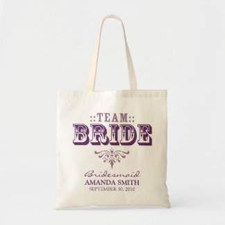 """TEAM BRIDE"" Personalized Wedding Party Tote Bag"