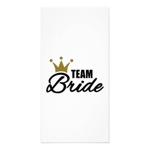 Team Bride Customized Photo Card