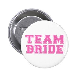Team Bride (Pink) 6 Cm Round Badge