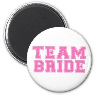Team Bride (Pink) 6 Cm Round Magnet