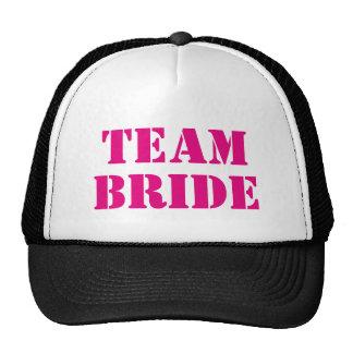 TEAM BRIDE pink bachelorette party trucker hats