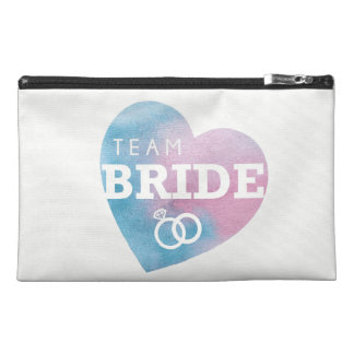 Team Bride Pink Blue Squad Bridal Bachelorette Bag Travel Accessory Bag