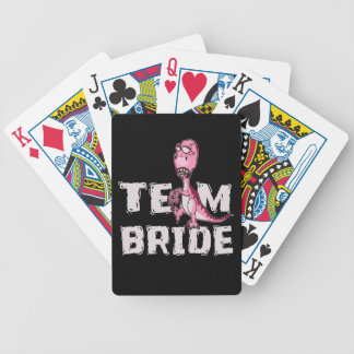 Team Bride Pink Dinosaur Bridal Shower Bicycle Playing Cards