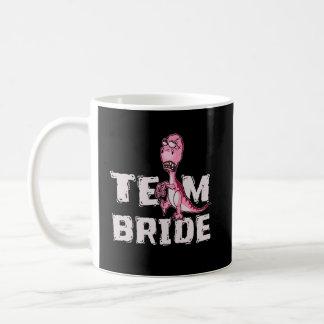 Team Bride Pink Dinosaur Bridal Shower Coffee Mug