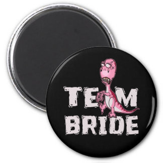 Team Bride Pink Dinosaur Bridal Shower Magnet